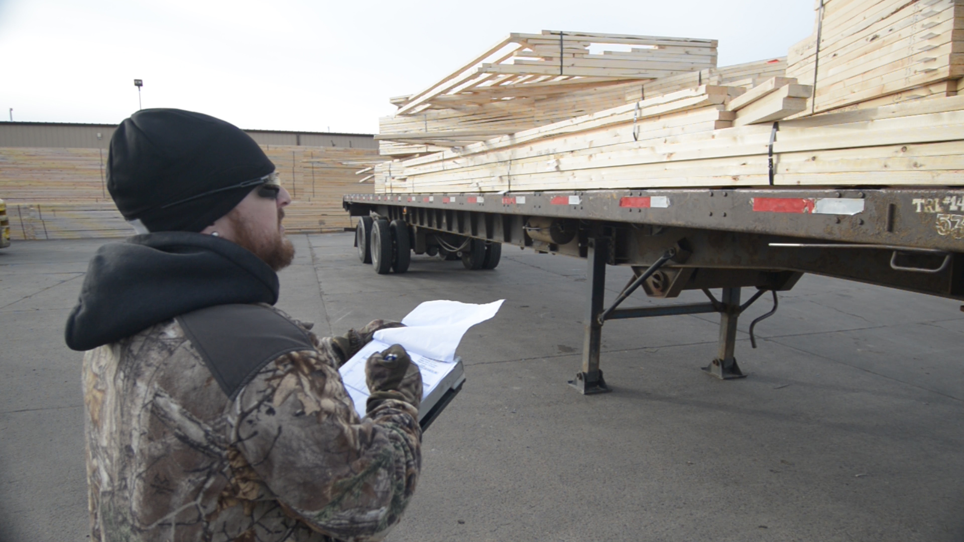 CMC Trusses on Truck